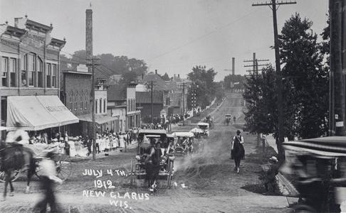 Fourth of July parade, New Glarus, 1912