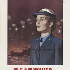 'Enlist in the Waves' Navy poster
