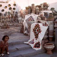 Pots and Blankets at a Kairouan Market