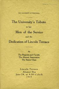 Lincoln statue tribute program