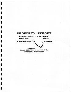 Property report Carr-Gottstein Properties, Inc. Portfolio investment analysis, Anchorage, Alaska