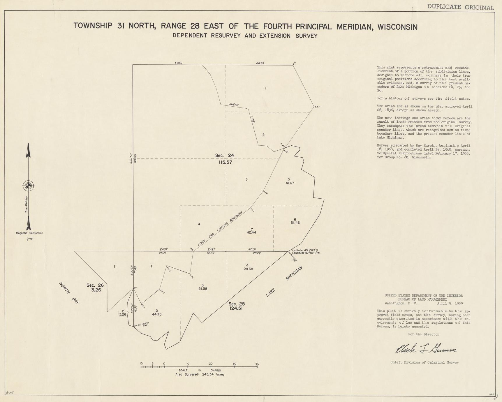 [Public Land Survey System map: Wisconsin Township 31 North, Range 28 East]