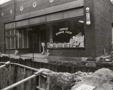 Campus Barber Shop during construction