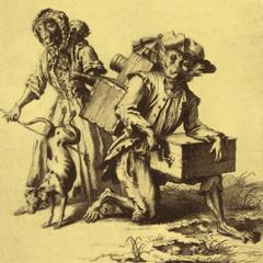Dressed Capuchins Print