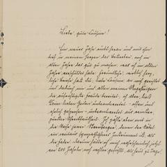 [Letter from Carl to his cousin, December 27, 1891]