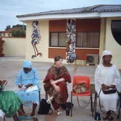 Trager at Iloko community meeting