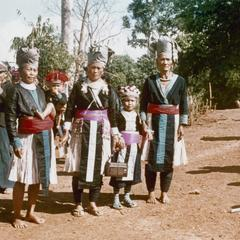 Three White Hmong women and a girl in Houa Khong Province