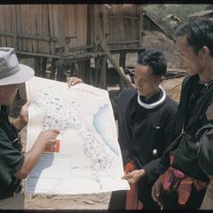 Hmong (Meo) and Inspector of Education with map
