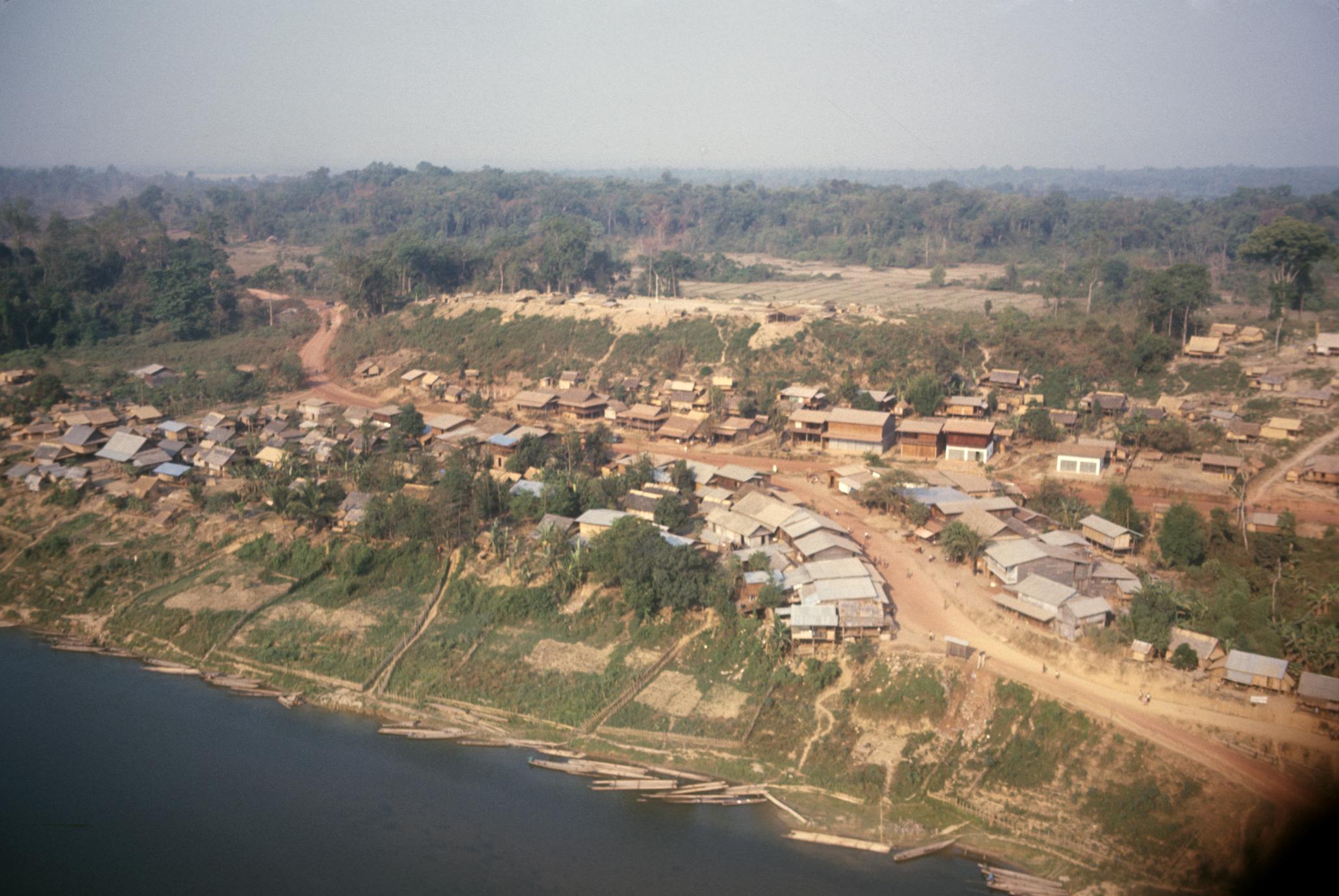 Aerial view of Ban Thalat