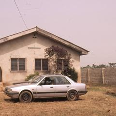 Building and car