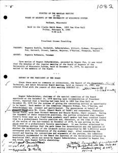 Robert Marchant O'Neil (1980-1985) : Minutes of the University of Wisconsin System Board of Regents