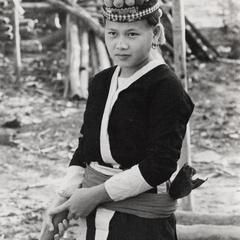 White Hmong young woman in Houa Khong Province