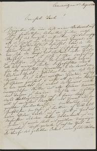 [Letter from Fanny Adler to her aunt, possibly Jakob Sternberger's mother, August 11, 1839]