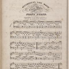 Beethoven's last waltz