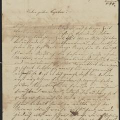 [Letter from Hani Sternberger to her brother, Kajetan Sternberger, November 19, 1848]