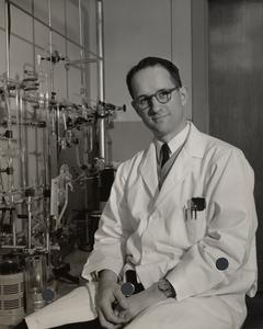 Robert Alberty in the lab