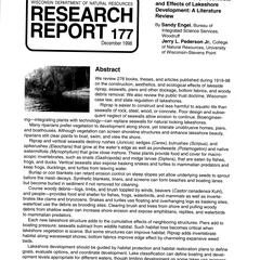 The construction, aesthetics, and effects of lakeshore development : a literature review
