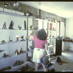 Maria Adair and Mario Cravo in Cravo's studio