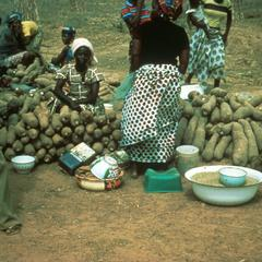 Yams Being Sold at Market