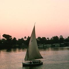 Felucca (Sailing Boat) on Nile River in Cairo