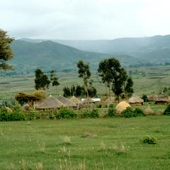 """A Village, the Product of the """"Villagization"""" Scheme"""