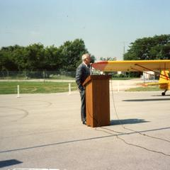 Mike Batten at renaming of Horlick-Racine to Batten