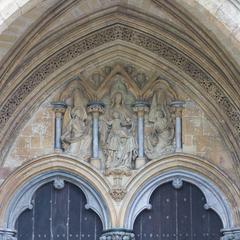 Salisbury Cathedral west facade tympanum
