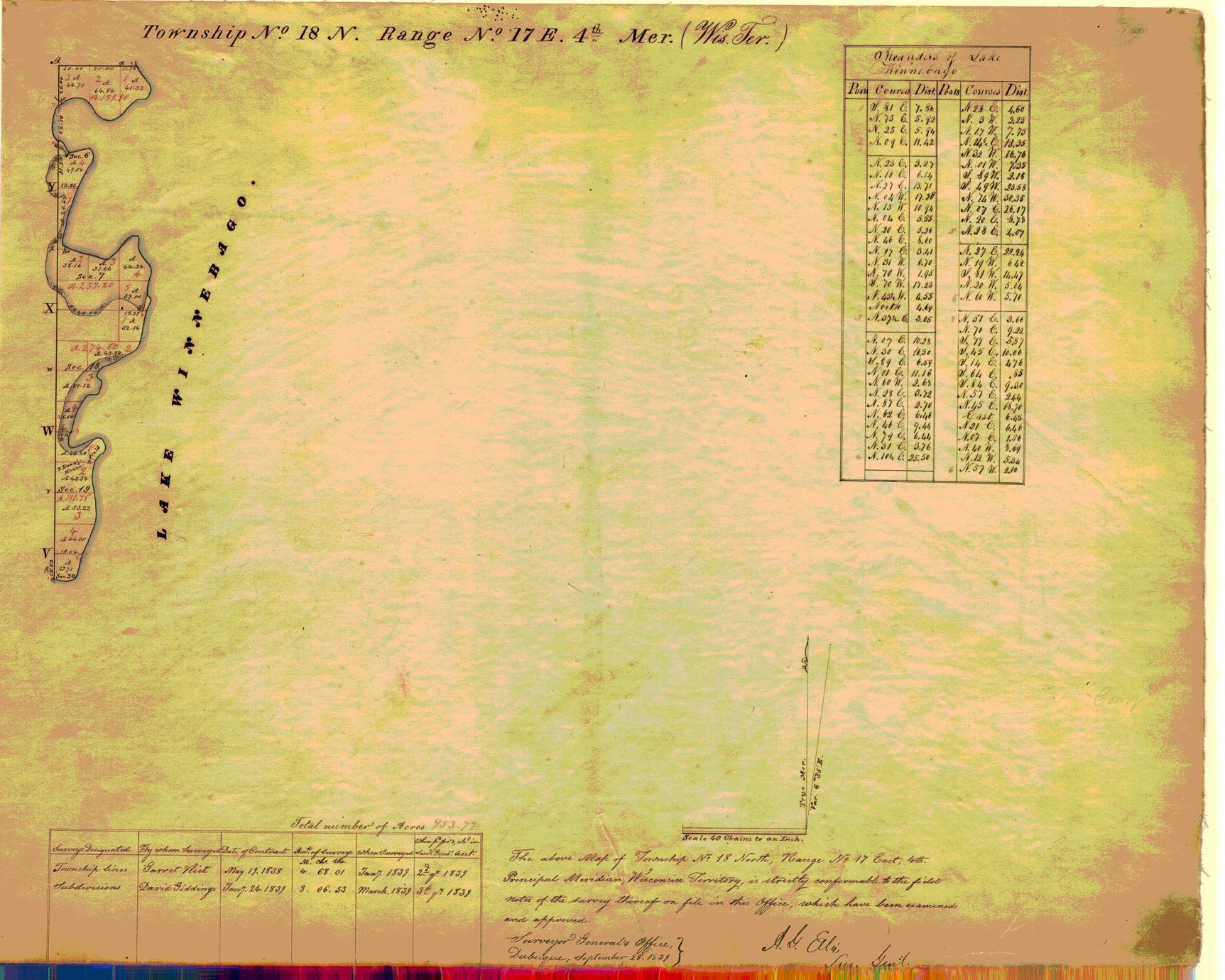 [Public Land Survey System map: Wisconsin Township 18 North, Range 17 East]