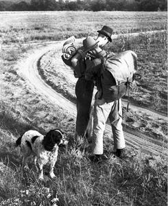 Fred Solmes and Carl Leopold backpacking with Flick