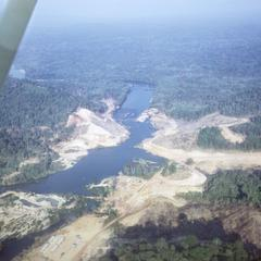 Aerial view of Nam Ngum Dam site