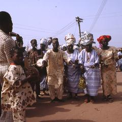 Crowd dancing at the Iwude festival