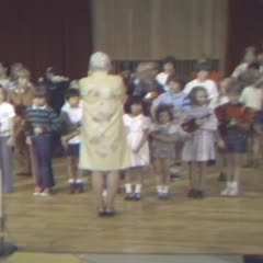 Violin class taught by Shin'ichi Suzuki at the American Suzuki Institute, Stevens Point, WI., August 22, 1976