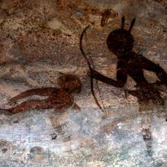 Petroglyph : Two Human Figures