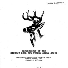 [Proceedings of the Midwest Deer and Turkey Study Group Annual Meeting, 1991]