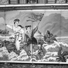 A temple painting depicting the tale of Bai Suzhen (Madam White Snake) 白素貞.