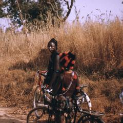 Two children on bicycles