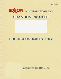 Housing and land use analysis methodology : socioeconomic assessment, Exxon Crandon Project