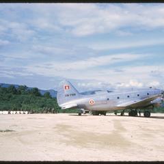 Muang Kasy : landing strip--Lao army plane