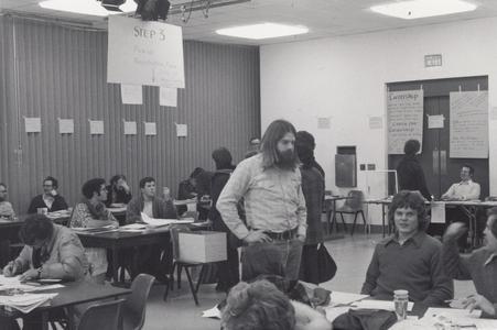 Class registration, Janesville, 1977