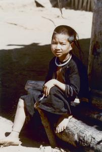 Akha boy in the village of Phate in Houa Khong Province