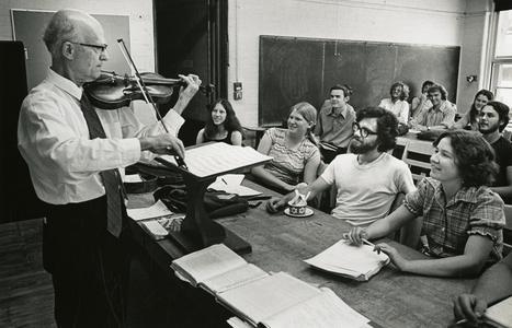 Francis Hole playing violin