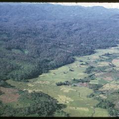 Flight to Nam Tam irrigation dam- plain