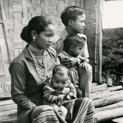 Nyaheun family in the village of Xe Namnoi in Attapu Province