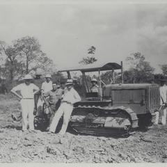 Crew with tractor, Pangasinan, 1936