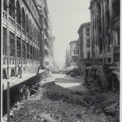 Debris amid damaged buildings after bombings, Manila, 1945