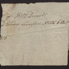 Part of a bill, 1816
