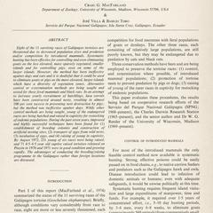 The Galápagos giant tortoises (Geochelone elephantopus) : part II : Conservation methods