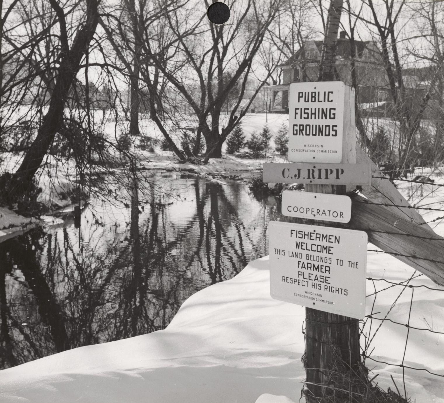 Public access signs