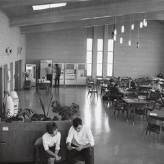 Student lounge with vending machines, Manitowoc, October 1963