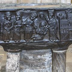 Winchester Cathedral Norman font